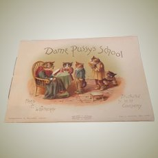 Child's Book Dame Pussy's School 1885
