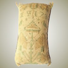 Dated 1735 Antique Knitted Silk Sampler Pincushion