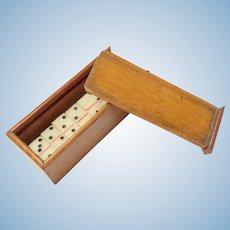 Antique Miniature Box Of Dominoes