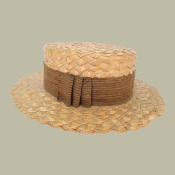 Miniature Straw Boater Salesman's Sample c1910