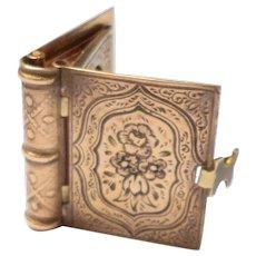 Gilt Miniature Keepsake Locket Photo Album 1880
