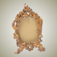 Tiny Gilt Metal Picture Frame c1890