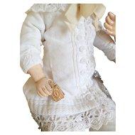 Tiny Gilt Aide Memoire For Doll c1900