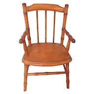 Small French Dolls Faux Bamboo Chair c1910