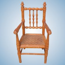Small French Antique Dolls Chair c1910