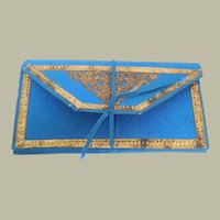 Blue Silk Needlecase c1860