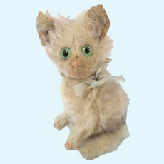 """1920's Steiff Fluffy Cat Lilac Tipped Mohair 6"""""""