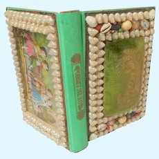 Hard To Find Shell Work Child's Sewing Box c1880
