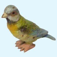 Tiny Cold Painted Bronze Bird c1915