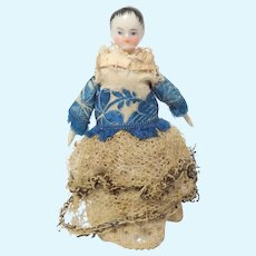 Early China Dolls House Doll c1850