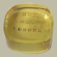 Yellow Tassie Seal With Message c1850