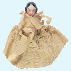 Pink Tint China Doll Original Clothing c1860