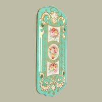 Lovely Handpainted Finger Plate For Door c1880