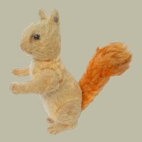 Steiff Red Squirrel Fully Jointed FF Button In Ear