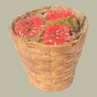 Antique Strawberry Basket Pin Cushion c1880