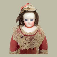 Beautiful French China Shoulder Head Doll c1860