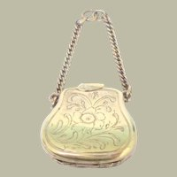 Miniature Handbag Shaped Mourning Locket Novelty c1880