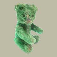 Rare Green Schuco Teddy Bear Perfume Bottle c1930