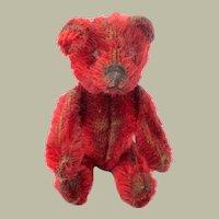 Rare Red  Schuco Compact Teddy Bear c1930