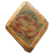 Diamond Shaped Theorem Pin Cushion c1830