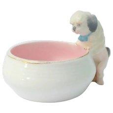 Sweet Porcelain Puppy Pin Dish c1910