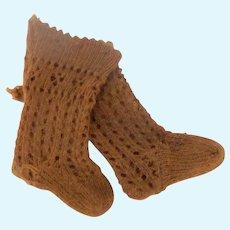 Jumeau Doll Socks c1900