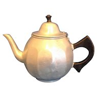Mirro Aluminum Colonial Teapot 1920s Wooden Handle