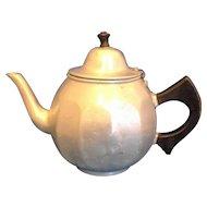 Mirro Aluminum Colonial Teapot 1920s Wooden Handle