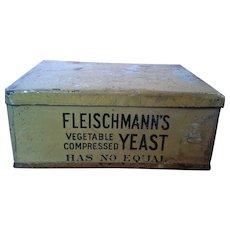 Fleischmanns Vegetable Compressed Yeast Advertising Tin