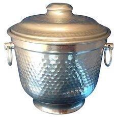 Hammered Aluminum Ice Bucket Italy