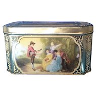 Fragonard Scenes Tin W Germany Small Casket