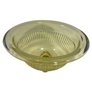 Federal Glass Amber Golden Glow Rolled Rim Ribbed Mixing Bowl 8 IN Depression Glass