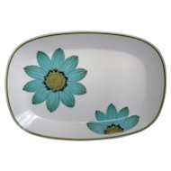 Noritake Up Sa Daisy Oval Platter 13 IN