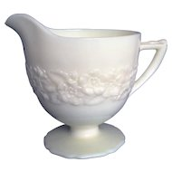 Indiana Custard French Ivory Glass Depression Creamer