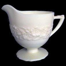 Indiana Custard French Ivory Glass Depression Creamer