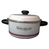 Guten Appetit White Porcelain Enamel on Steel Dutch Oven 3 Qt