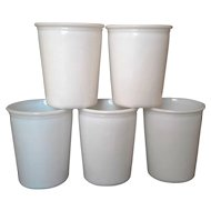 Salton Milk Glass Yogurt Cups Set of 5 No Lids
