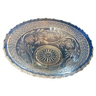 Indiana Glass Rose Point Band Open Round Serving Bowl 10 IN