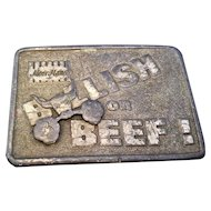 Moorman's Bullish on Beef Pewter Belt Buckle