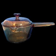 Corning Visions Amber 1 L Pot With Lid Pouring Spout