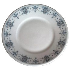 Arthuer Schiller & Son Chicago 1931 Blue Urn Swags Restaurant Ware Bread Plate Bauscher Weiden
