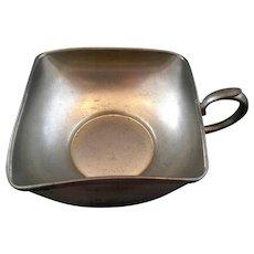 Royal Holland Daalderop KMP Square Pewter Nappy Handled Bowl