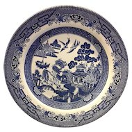 Churchill England Blue Willow Dinner Plate