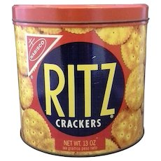 Ritz Crackers Tin Nabisco 1977