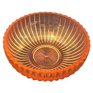 """Queen Mary Prismatic Pink Depression Glass Hocking 5"""" Round Bowl"""