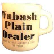 Wabash Plain Dealer Milk Glass Mug Galaxy