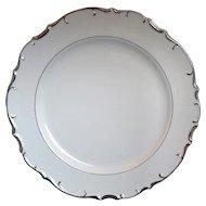 Bristol Nobility Fine China Chop Plate Round Platter 12 IN Platinum Trim Scallop