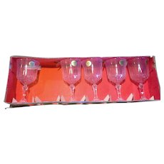 Cristal d'Arques J G Durand Versailles Water Goblets Set of 5
