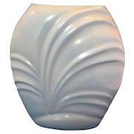 Blue Glazed Nude Woman Swirl Shell Vase