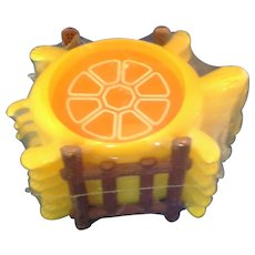 Turtle Yellow Plastic Coaster Set Made in USA